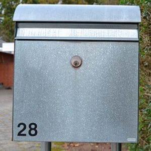 Bogstaver til postkasse